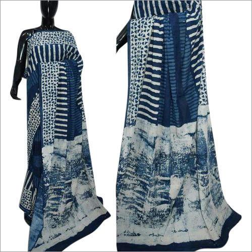 Ladies Embroidered Chanderi Silk Saree