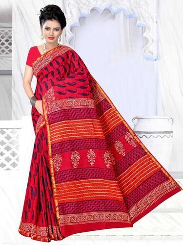 Ladies Printed Chanderi Silk Saree