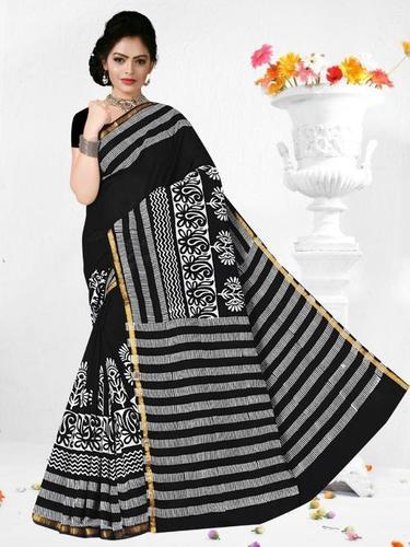 Party Wear Ladies Cotton Fancy Saree