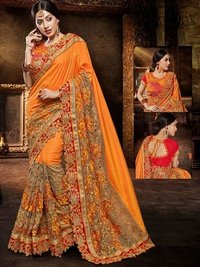 Designer Heavy Wedding Wear Saree