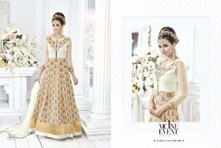 Designer Cream Anarkali Suit