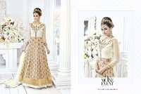 Designer Cream Anarkali Suit