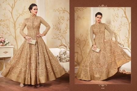 Bridal Wear Golden Anarkali Suit
