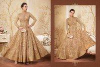 Bridal Wear Golden Anarkali Suit