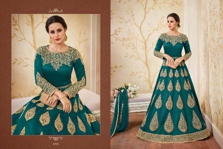 Green Embroidery Desgned Anarkali Suit