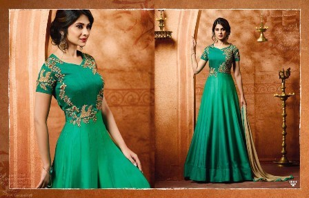 Green Designer Anarkali Suit
