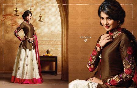 Designer White Jacket Anarkali Suit