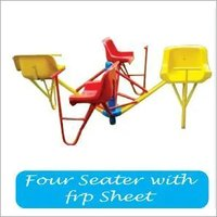 Four seater with frp sheet merry ground