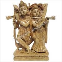 Wooden Radha Krishna Figure