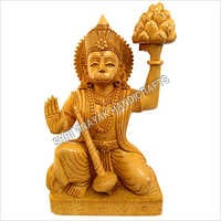 Wooden Hanuman Ji God Statue