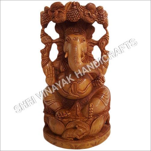 Wooden Ganesh Ji Statue