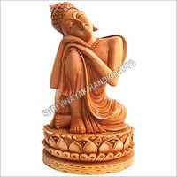 Wooden Resting Buddha