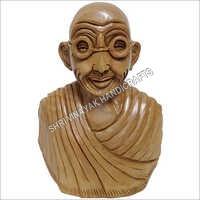 Wooden Gandhi Ji Statue