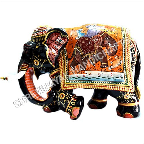 wooden painted elephents