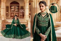 Green Neck Designed Anarkali Suit