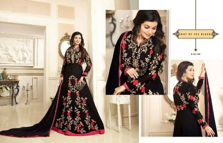 Wedding Wear Black Anarkali Suit