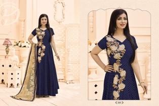 Blue Bollywood Designed Anarkali Suit