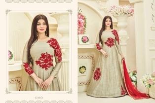 Cream Replica Anarkali Suit