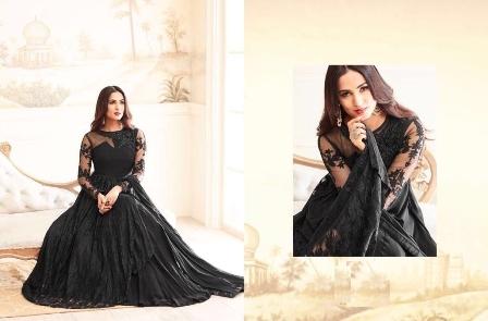 Wedding Wear Black net Gown