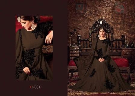 Brown Designer Anarkali Suit