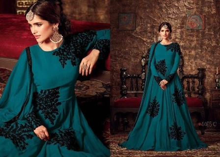 Designer Blue Anarkali Suit