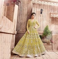 Bridal Wear Yellow Anarkali Suit