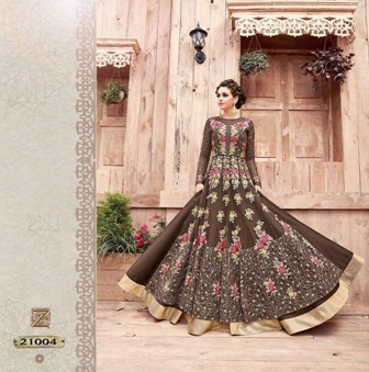 Bridal Wear Brown Anarkali Suit