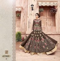 Bridal Wear Brown Anarkali Suit