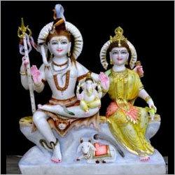 Lord Marble Shiva Parvati Statue