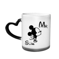Sublimation Color Changing Heart Handle Mug