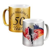 Sublimation Gold / Silver Mug