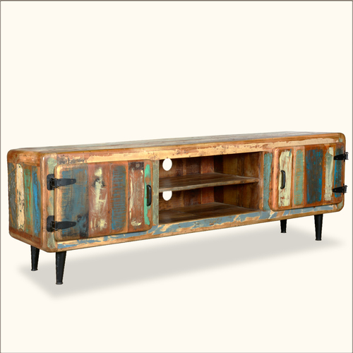 Reclaimed Wood Chest Of Drawers Tv & Media Console Unit