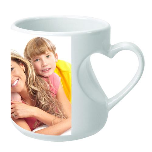 Sublimation Mug (Mug Body Heart Handle)