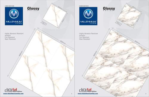 White Digital Floor Tiles