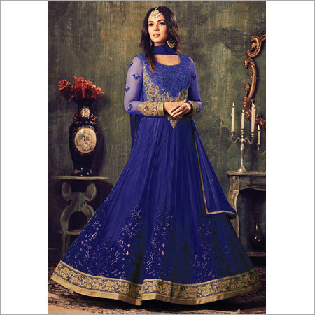 Ladies Blue Anarkali Suits