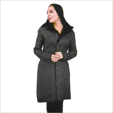 Ladies Designer Woolen Long Coat