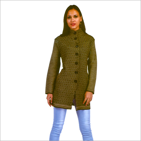 Ladies Modern Woolen Long Coat