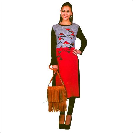 Designer Woolen Printed Kurtis
