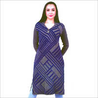 Ladies V Neck Fancy Woolen Kurti