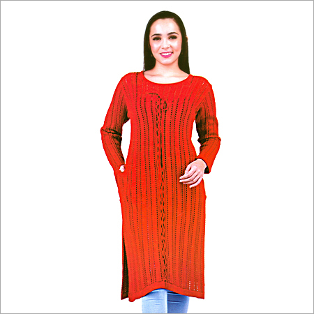 Ladies Woolen Red Kurtis