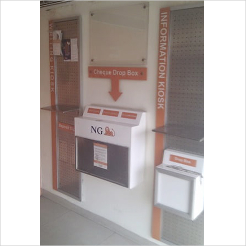Cheque Drop Box Stand