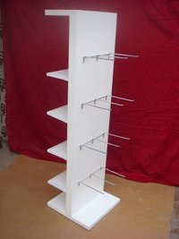 Wooden And Hook Holder Display Stand