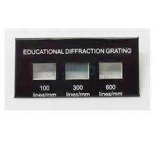 Diffraction Grating, Demonstration-3 Sets of Lines