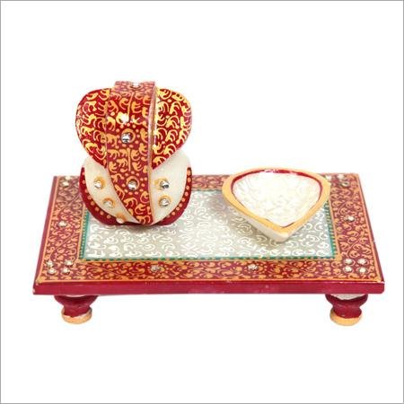 Marble Lord Ganesha Chowki