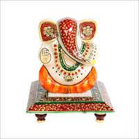 Lord Ganesha Marble Chowki