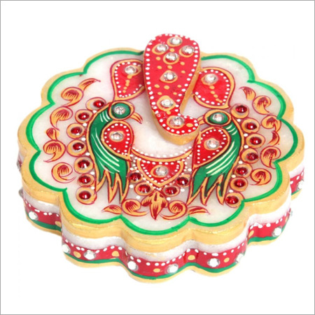 Marble Polished Lord Ganesha Chowki