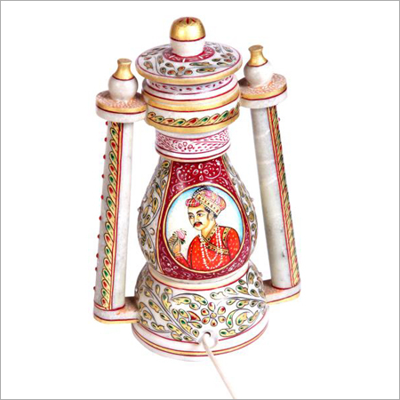 Marble Hand Painted Lantern