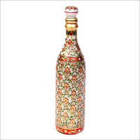 Hand Painted Studded Marble Bottle
