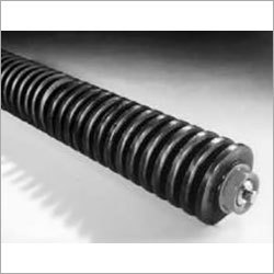 Return Rollers with Helical Rubber Rings