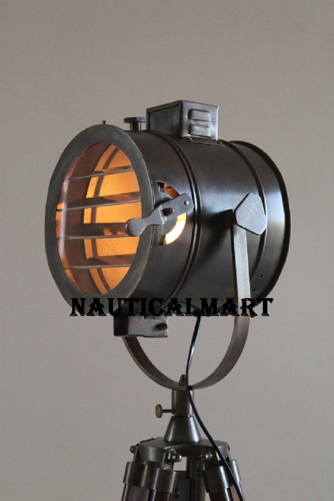 Antique Tripod Nautical Floor Lamp Industrial Vintage Look Lamp for Home and Office